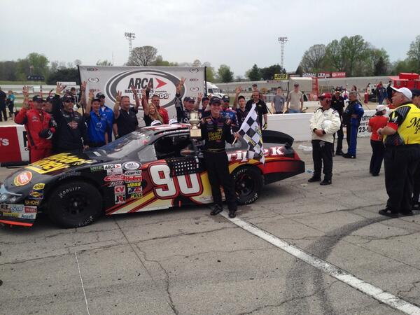 Grant Enfinger will go down in history as the second driver to win the first three races of an ARCA Season. Photo - Grant Enfinger's Twitter account
